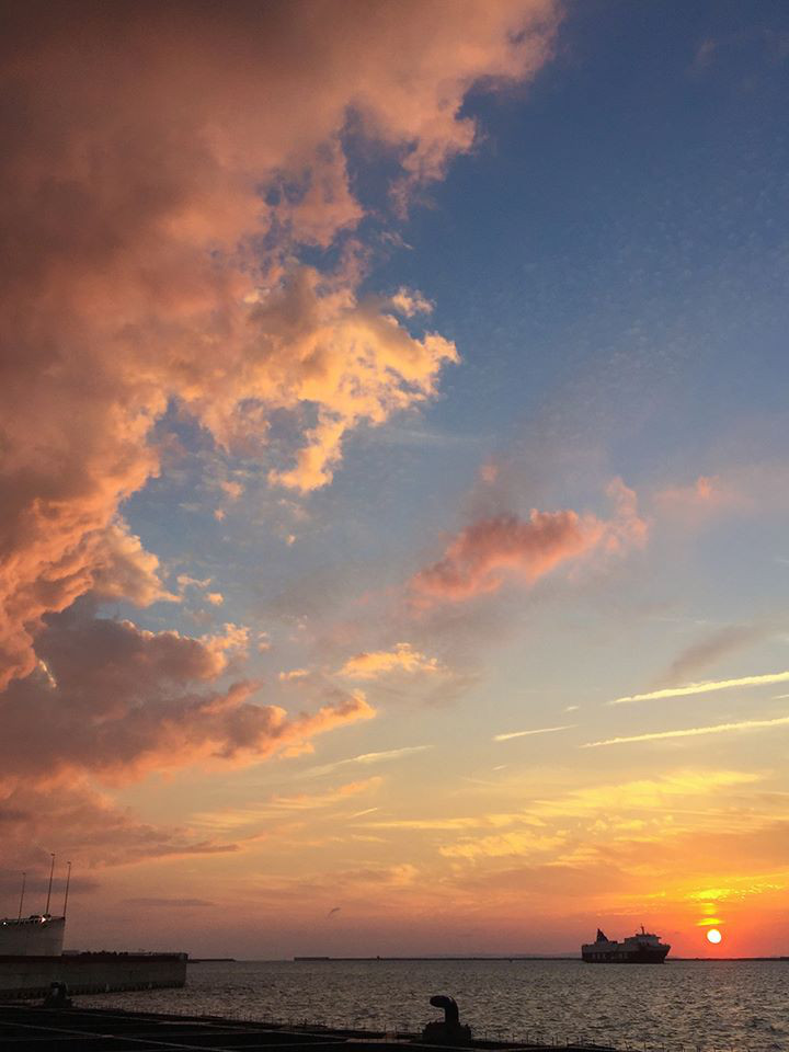 那覇クルーズターミナルからの景色